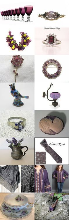 Purple...the color of royalty... by Tracey Ghazal on Etsy--Pinned with TreasuryPin.com
