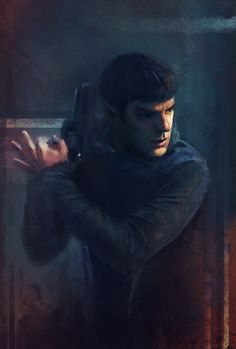 Spock by Peivi.deviantart.com on @deviantART. No idea what he's doing with his hand...