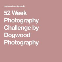 52 Week Photography Challenge by Dogwood Photography