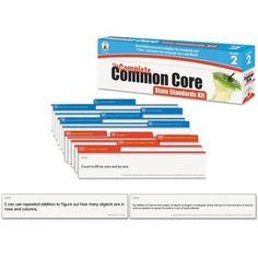 Carson-Dellosa Publishing Common Core State Standard Pocket Chart Cards, Language Arts and Math, Grade 2, Multicolor
