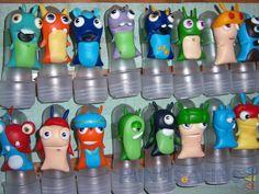 Tubetes personalizados com os mais diversos personagens #slugterra #lembrancinhas