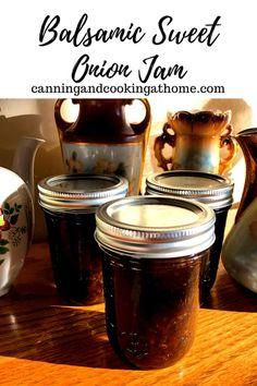 Onion Recipes, Jelly Recipes, Jam Recipes, Canning Recipes, Grill Recipes, Sauce Recipes, Bacon Onion Jam, Onion Relish, Balsamic Onions