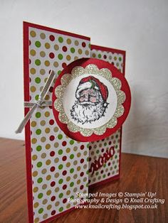 Knall Crafting! Stampin' Up! Christmas Flip Card with Thinlit Card Dies and Season of Style. Knall Crafting