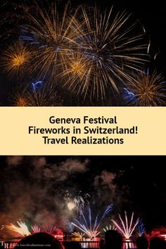 The Fireworks festival in Geneva, Switzerland - one of the world's greatest fireworks displays. It conquers hundreds of hearts. Backpacking Europe, Europe Travel Tips, European Travel, Travel Destinations, Travel Plan, Travel Ideas, Lausanne, Fireworks Festival, Fireworks Displays