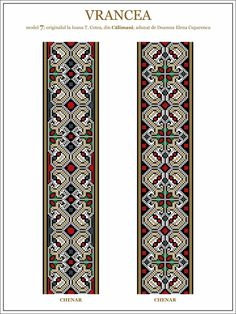 Semne Cusute: model de ie din Vrancea - embroidery patterns for the traditional… Folk Embroidery, Learn Embroidery, Embroidery Stitches, Embroidery Patterns, Cross Stitch Patterns, Machine Embroidery, Antique Quilts, Brick Stitch, Embroidery Techniques