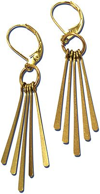 Easy Elegant Earrings - a simple DIY design with ready made paddles and the one step looper.