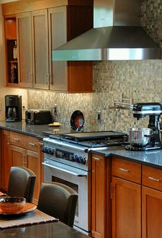 Northwest Contemporary Kitchen Remodel Outdated 1964 Home