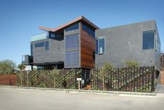 The Butterfly House is a project in Venice Beach California that resides on a 40' x 90' end lot. The name of the house is derived from the butterfly roof which is formed to collect rainwater for...