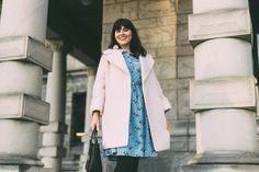 Martha Cat Print Shirt Dress, Joanie Clothing, Ever New, pink coat, Jackie Coat, vintage, style, winter, blogger, fashion, Kate Spade, women, style, retro, blogger, outfit, fashion, idea, winter, coat, pink,