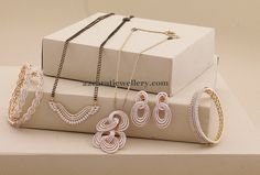 Diamond Mangalsutra with Suitable Bangles - Jewellery Designs Egyptian Jewelry, Indian Jewelry, Bridal Jewelry, Gold Jewelry, High Jewelry, Diamond Mangalsutra, Diamond Jewellery, Gold Pendent, Long Pearl Necklaces