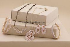Black Beads Diamond Set Bangles | Jewellery Designs