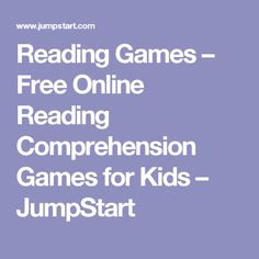 Reading Games to encourage healthy reading habits.
