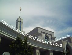 2013 LDS General Conference Printables {{free printable}}
