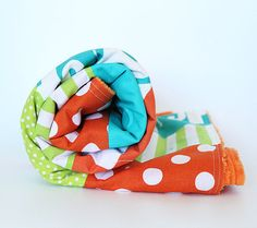 Turquoise Orange and Lime Green Baby Blanket by GiggleSixBaby Bright Nursery, Patchwork Blanket, Orange And Turquoise, Baby Elephant, Baby Quilts, Lime, Green, Handmade, Stuff To Buy