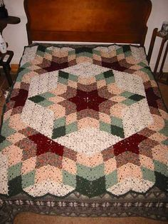 prairie star afghan by thing4string, via Flickr..free pattern