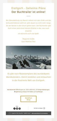 Erellgorh - Geheime Pläne  Der Buchtrailer ist online! Planer, Hush Hush, Pocket Books, Pictures