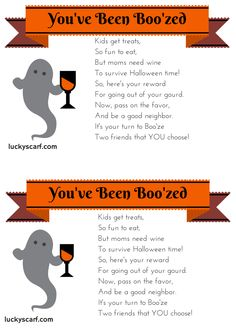 You've Been Boo'zed - Free Printables | LuckyScarf More