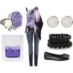 Purple Flower, created by cammielulabell.po...