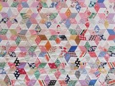 Outstanding 1930 40s Vintage Touching Stars Quilt Top Novelty Prints | eBay Vintageblessings