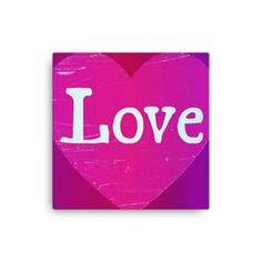 Love Heart Pink Canvas