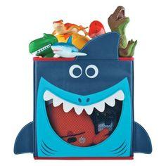 Cute for kids: Circo Fabric Drawer Shark. Shark Bedroom, Shark Nursery, Eclectic Storage Boxes, Fabric Drawers, Kids Storage, Toy Storage, Kitchen Storage, Kid Closet, Closet Ideas