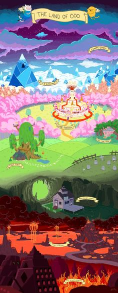Map of the land of Ooo, by Lizzi!