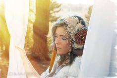 VINTAGE PURPLE ELEGANTFeather Fascinators Handmade Bride Bridesmaid Festival Fashion Pearl Elegant Beautiful Lime Hair Accessories Clip