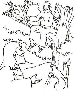 Can you find Zacchaeus? Coloring and Activity Sheet from www ...