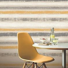 Painted Stripe shows an imperfect horizontal stripe with an earthy feel and a beautiful metallic finish that adds a contemporary twist on a timeless design Metallic Wallpaper, Striped Wallpaper, Framed Wallpaper, Paint Stripes, Stripes Design, Striped Walls Horizontal, Grey Striped Walls, Classic Wallpaper, Contemporary Wallpaper
