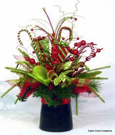 Weihnachten Zylinder Herzstück Floral von cabincovecreations