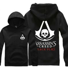 Leecos Assassin's Creed 4 New Winter Hooded Sweater Black Flag Assassins Creed Hoodie, Assassins Creed Black Flag, Black Flag Logo, 4 News, Hooded Sweater, Black Sweaters, Hoods, Costumes, Amazon