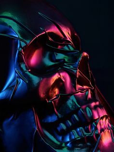Following the success of his SkinDeep series, Paris-based photographer Julien Palast used the same technique to shrink wrap a skull into an electrifying, iridescent environment which was then photographed to produce these incredibly vibrant and colorful results. More photography More by Julien Palast