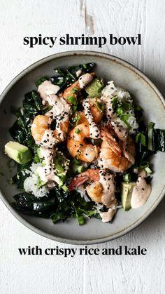 Shrimp Recipes, Fish Recipes, Asian Recipes, Whole Food Recipes, Dinner Recipes, Cooking Recipes, Salmon Recipes, I Love Food, Good Food