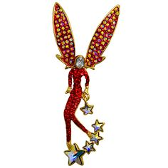 Crystal #Fairy with #Stars #Brooch
