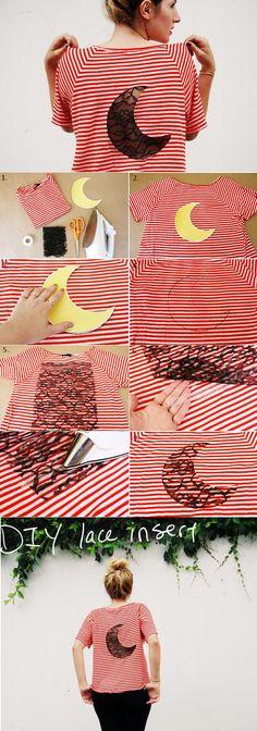 Lace Insert T- shirt – DIY