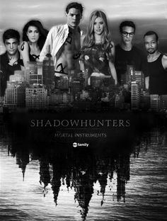 This is the Shadowhunters tv show cast Dominic Sherwood=Jace Herondale Kat McNamara=Clary Fairchild Emeraude Toubia=Isabelle Lightwood Matthew Daddario=Alec Lightwood Isaiah Mustafa=Luke Graymark