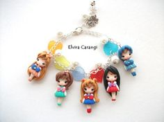 sailor moon bracelet anime manga polymer clay by ElviraCarangi
