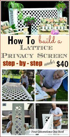 Learn how to build a budget-friendly lattice screen in this tutorial.