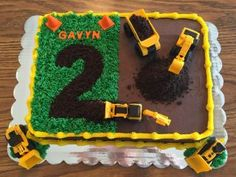 Dump Truck - cake by Julie - CakesDecor Dump Truck Cakes, Truck Birthday Cakes, First Birthday Cakes, 2nd Birthday, Construction Theme Cake, Construction Birthday, Construction Cookies, Rubble Paw Patrol Cake, Tractor Cupcakes