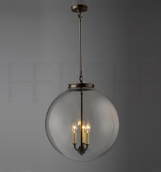 Kitchen Pendant: Hector Glass Globe XL