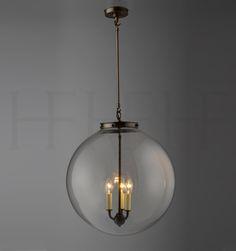 Kitchen Pendant: Hector Glass Globe XL