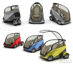 electric car design  -I'd so ride this