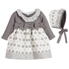 Mebi Baby Girls Grey 2 Piece Dress Set at Childrensalon.com
