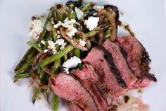 the chew' s grilled tri-tip and green beans