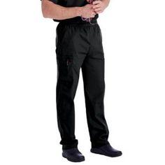 Landau Men's Cargo Scrub Pant, Black