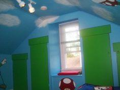 Mario Room! Lego Bedroom, Bedroom Themes, Mario Brothers, Mario Bros, Super Mario Room, Toy Storage, Bed Room, Awesome Stuff, Game Room