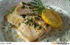 Pstruží filé v koprové smetaně Camembert Cheese, Pork, Turkey, Meat, Recipes, Kale Stir Fry, Turkey Country, Ripped Recipes