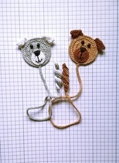 Crochet Bookmark Dog, Gift ideas for book lovers Book lover, gift Bookmarks for books Gift for kids – Maria Demian - Crochet Marque-pages Au Crochet, Crochet Books, Thread Crochet, Crochet Gifts, Crochet For Kids, Easy Crochet, Crochet Bookmark Pattern, Crochet Bookmarks, Crochet Patterns