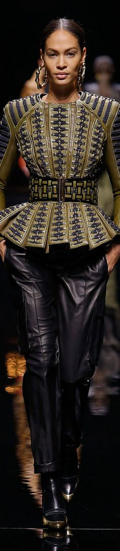 Balmain - LOOKandLOVEwithLOLO: FALL 2014 Ready-To-Wear featuring Balmain