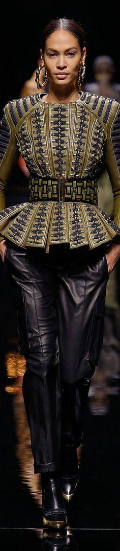 Balmain - LOOKandLOVEwithLOLO: FALL 2014 Ready-To-Wear featuring Balmain